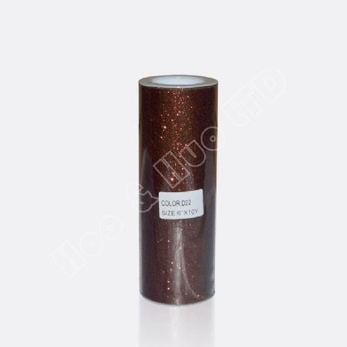 "Brown Glitter Tulle Roll 6"" X 10 Y / D22"